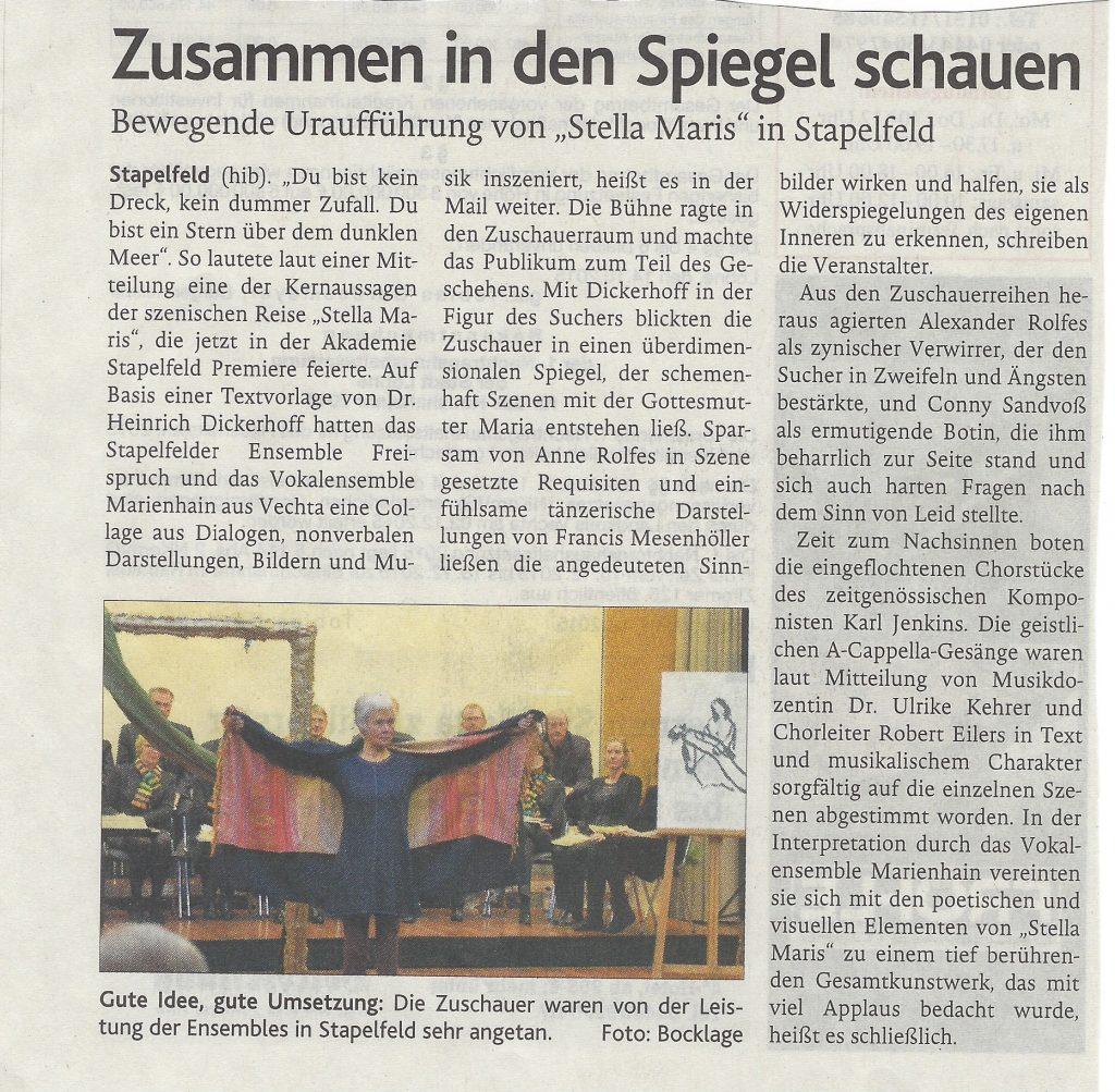8.12.2015 Oldenburgische Volkszeitung