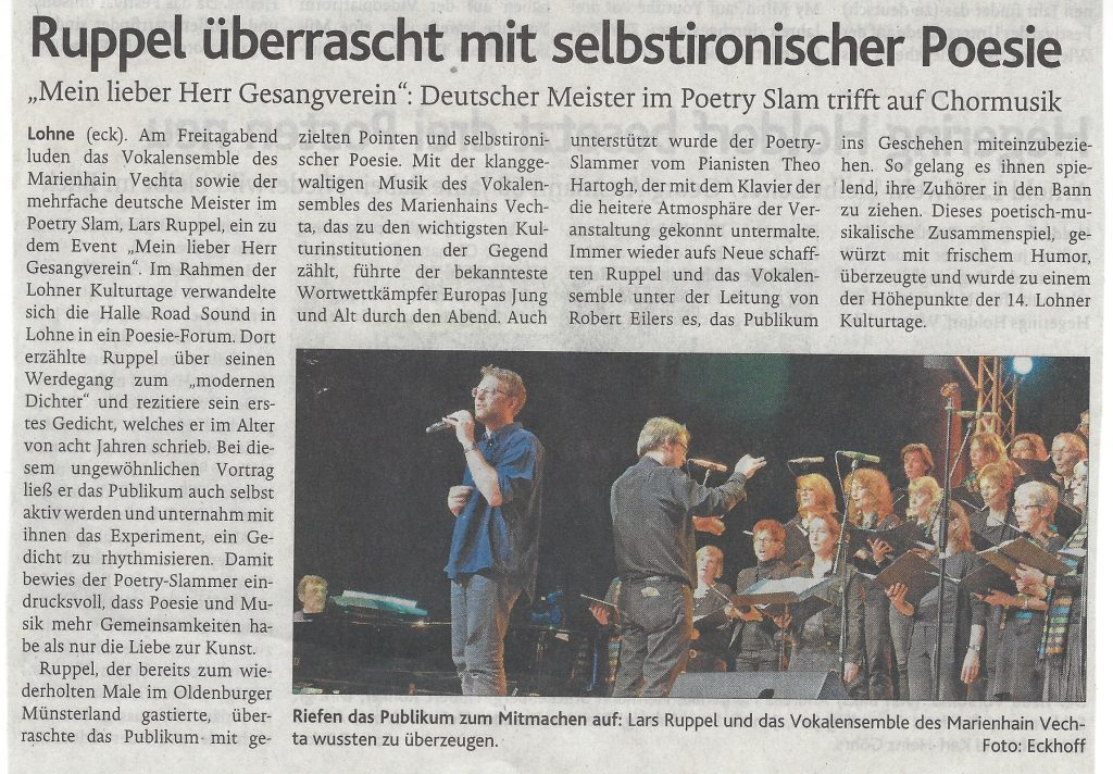 25. April 2016, Oldenburgische Volkszeitung